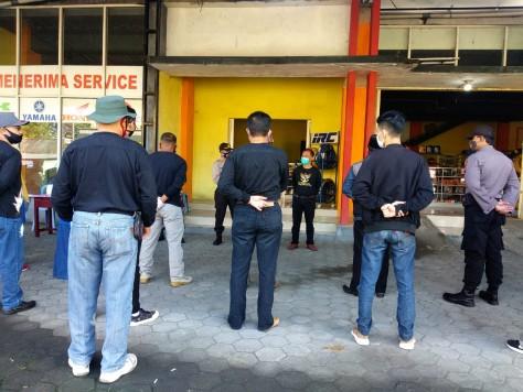 Kegiatan Check Point Operasi Masker jumat 2 Oktober Kec Kalikajar