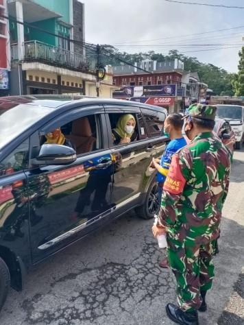 Gugus Tugas Kec Kalikajar Selasa 13 Oktober 2020 gelar operasi masker